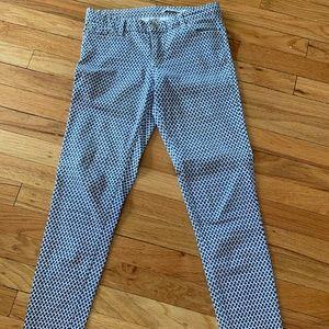 ZARA Skinny Checkered Trousers